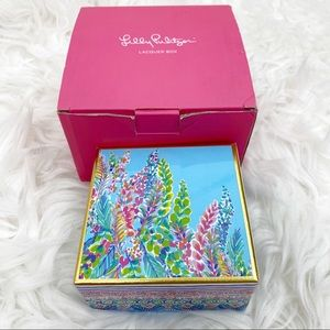 Lilly Pulitzer Lacquer Box Catch the Wave Decor